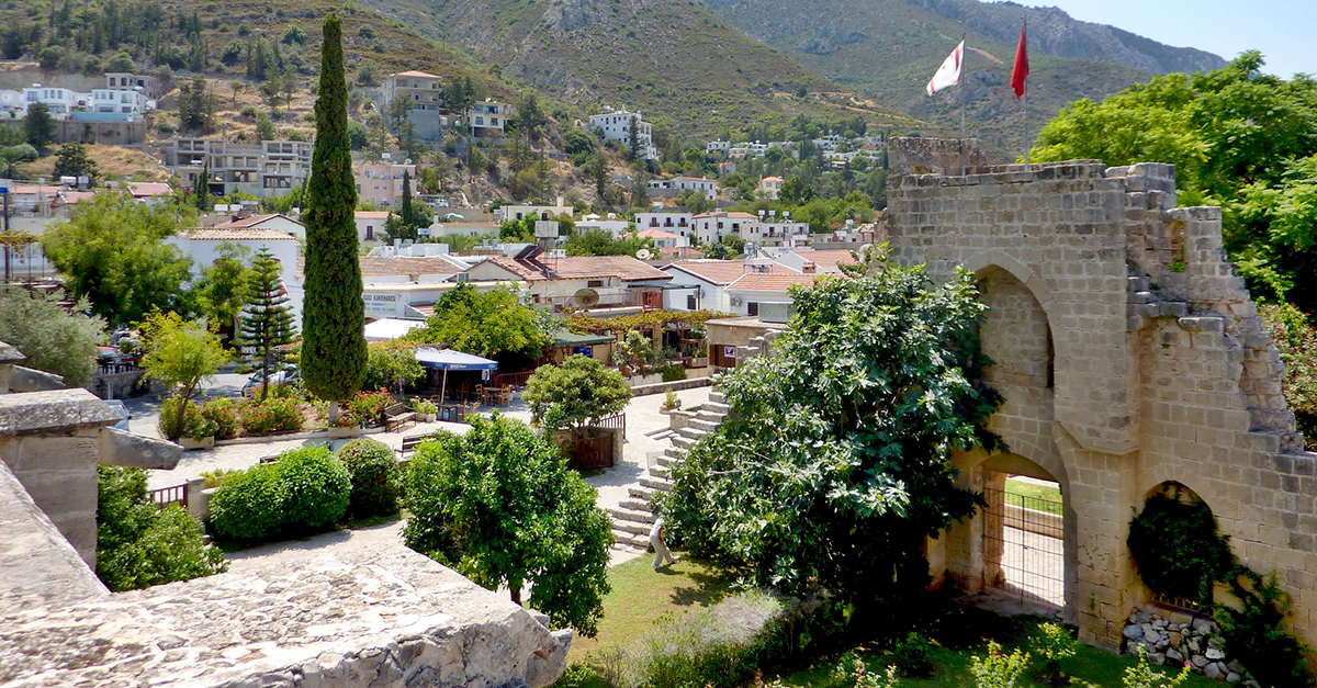 view of the village of Bellapais, Cyprus
