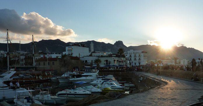 The harbor in Kyrenia, Cyprus