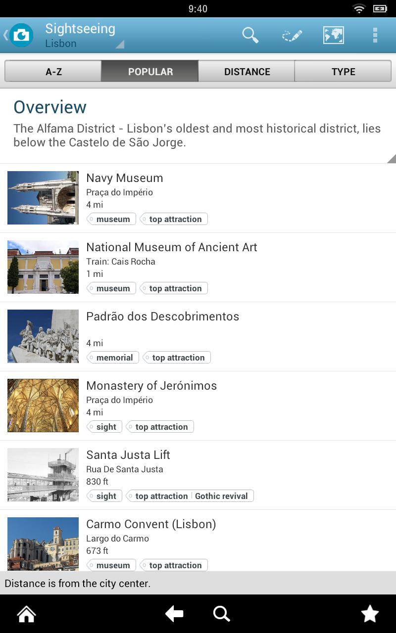 screenshot of Triposo app
