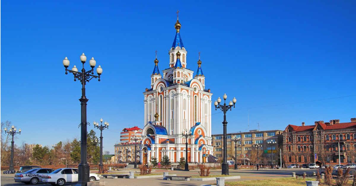 Cathedral of the Blessed Virgin Mary Assumption in Khabarovsk Russia