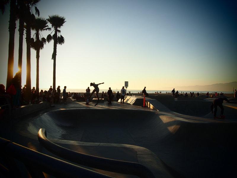 Skateboarders Venice Beach, CA