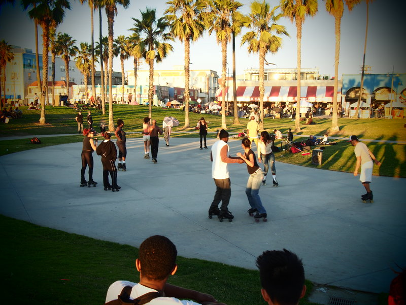 Rollerblading Venice Beach, Los Angeles, CA