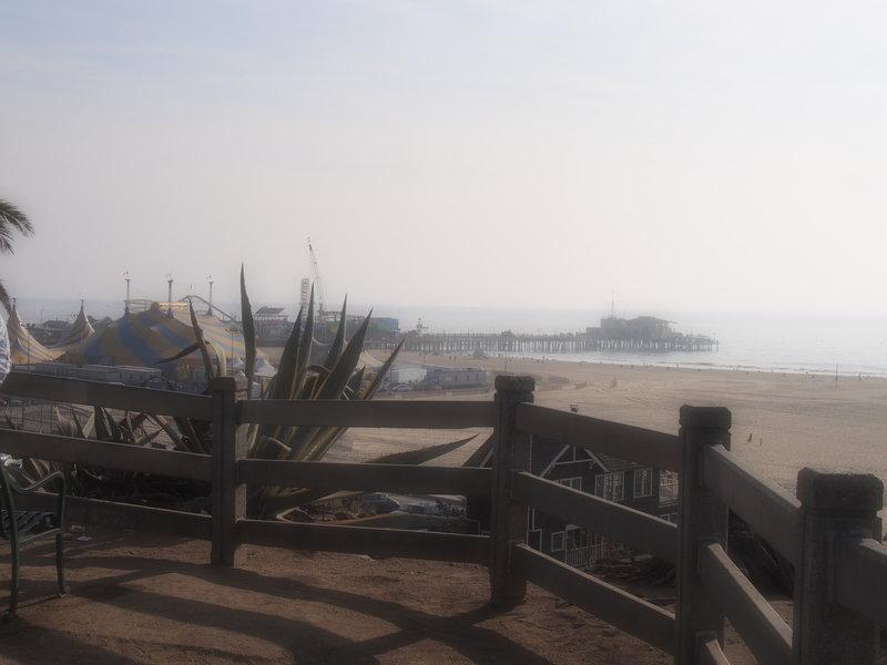 Santa Monica pier in the distance