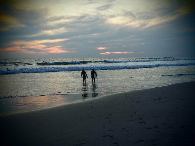 Two surfers in Santa Teresa Costa Rica