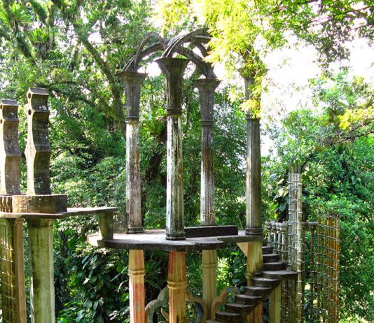 Bamboo Palace in Las Pozas Mexico