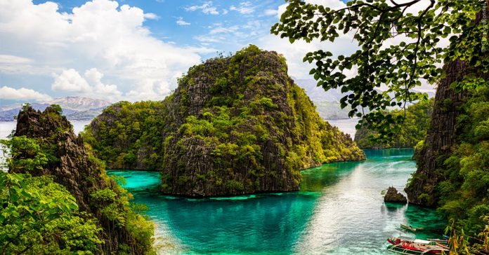 View from Palawan Island