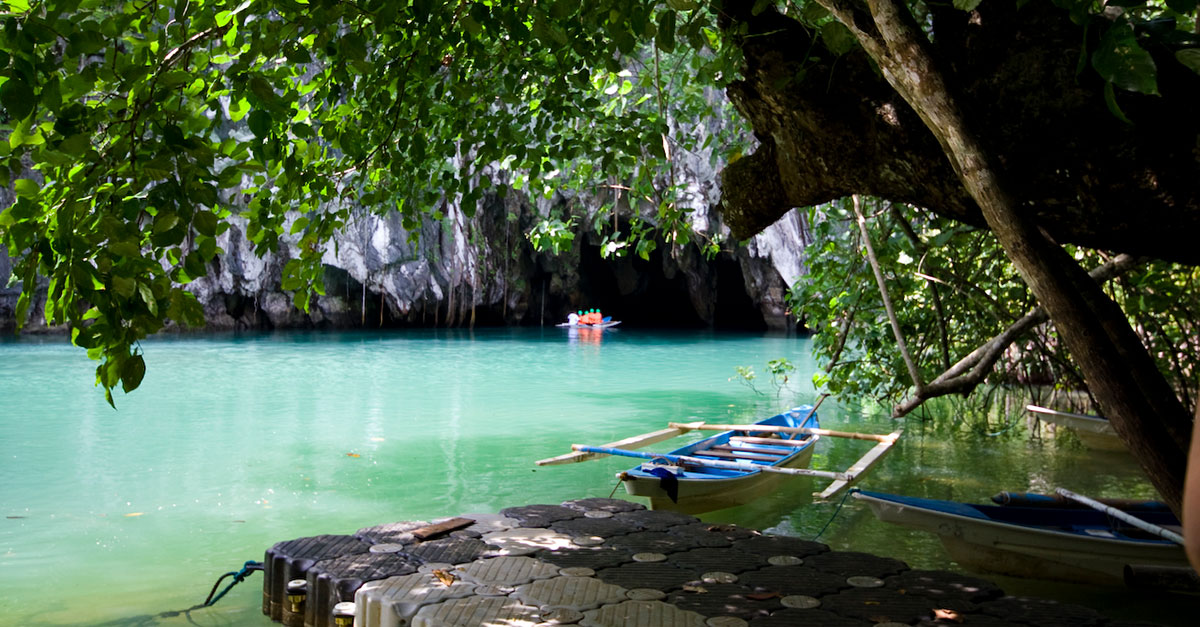 underground river and cave Sabang