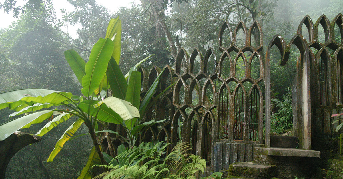 One of the many surreal sculptures at Las Pozas