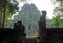 Temple of Koh Ker in Cambodia