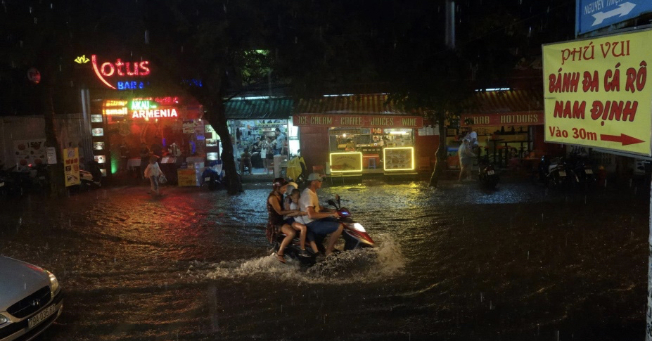 southeast asia moped water flood