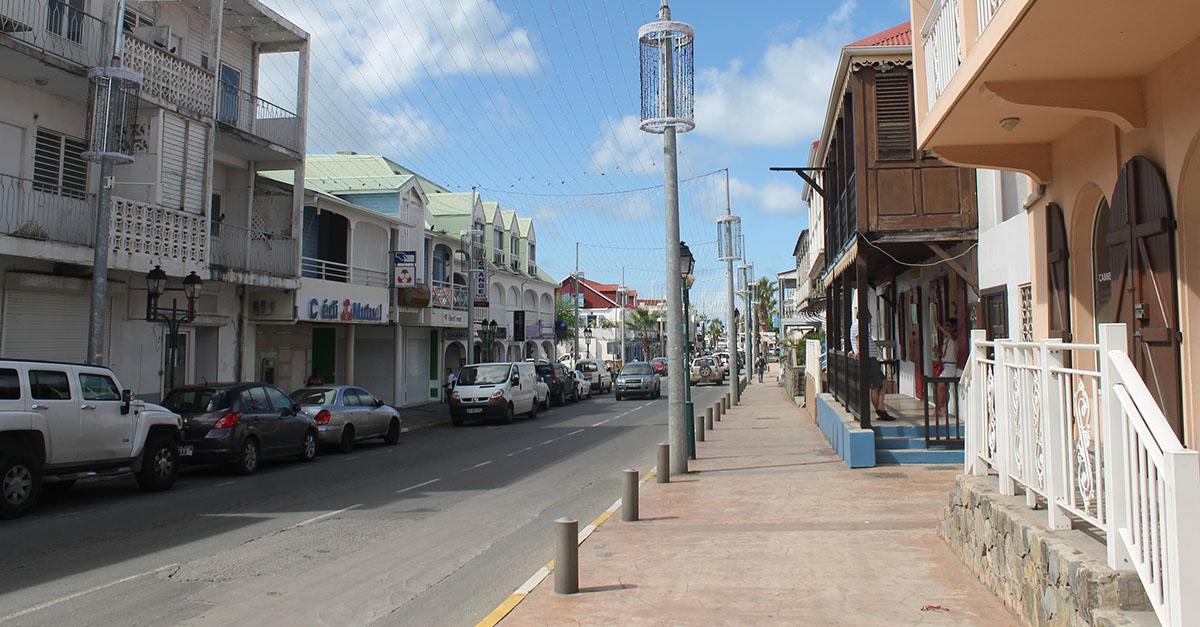 a street in marigot saint martin