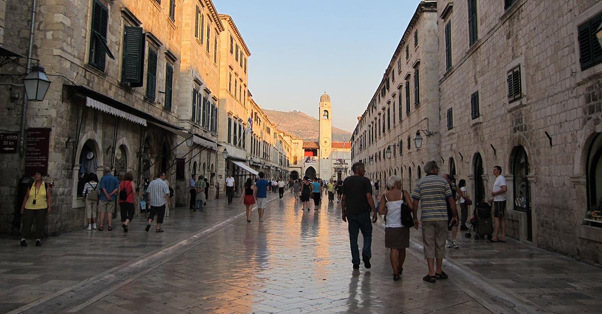 the Stradun or Placa in Dubrovnik, Croatia