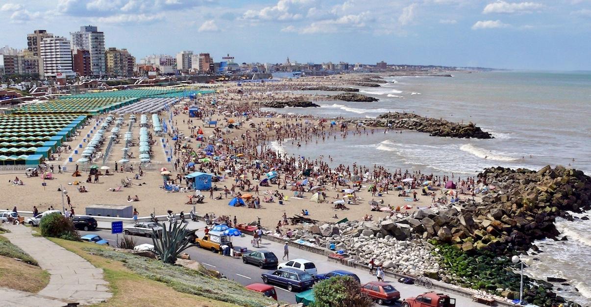 Mar del Plata Beach Argentina