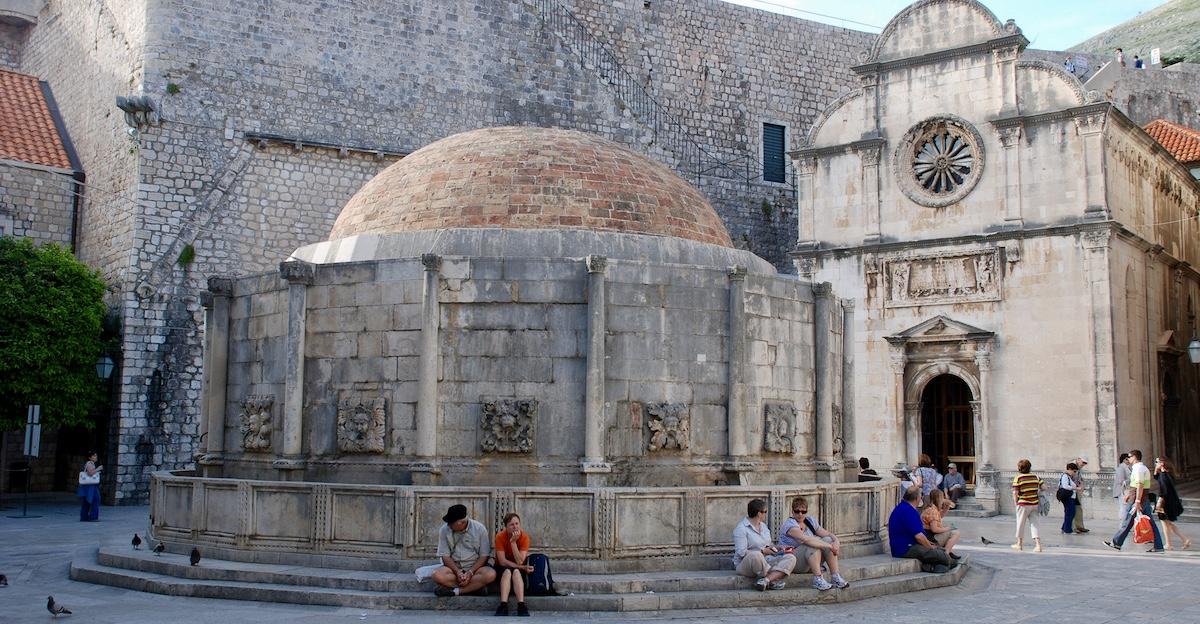 Onophrian Fountain Dubrovnik Croatia