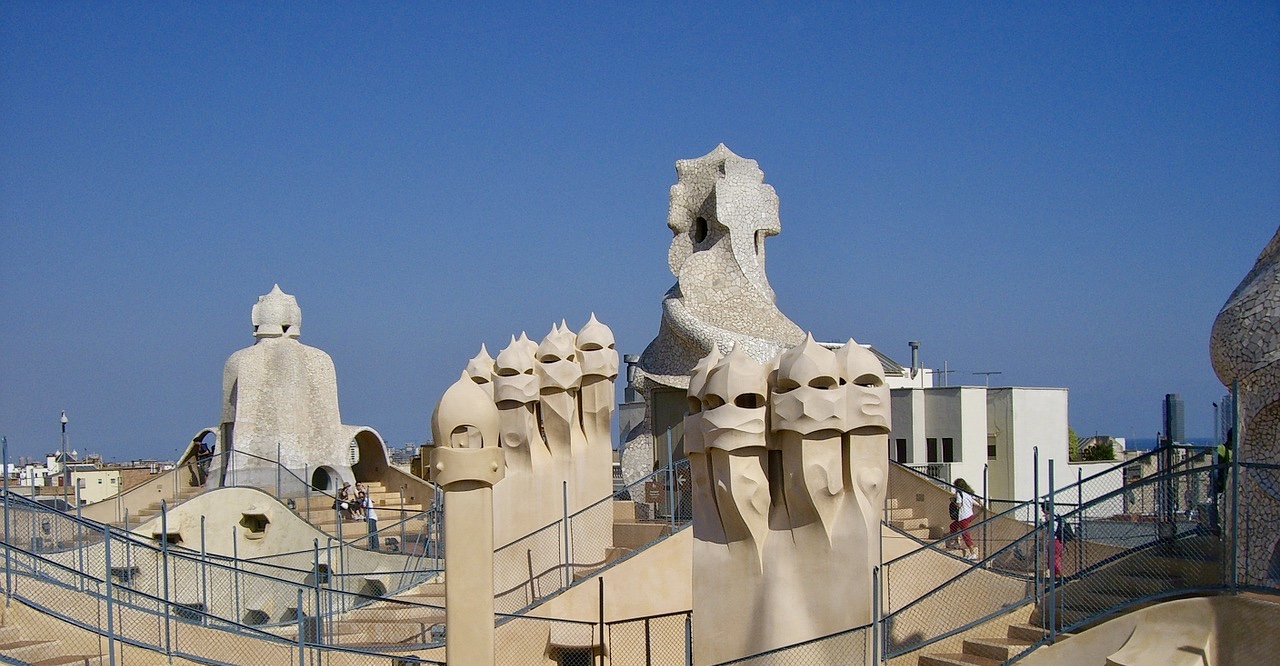 rooftop sculptures of Sagrada Famila Barcelona Spain