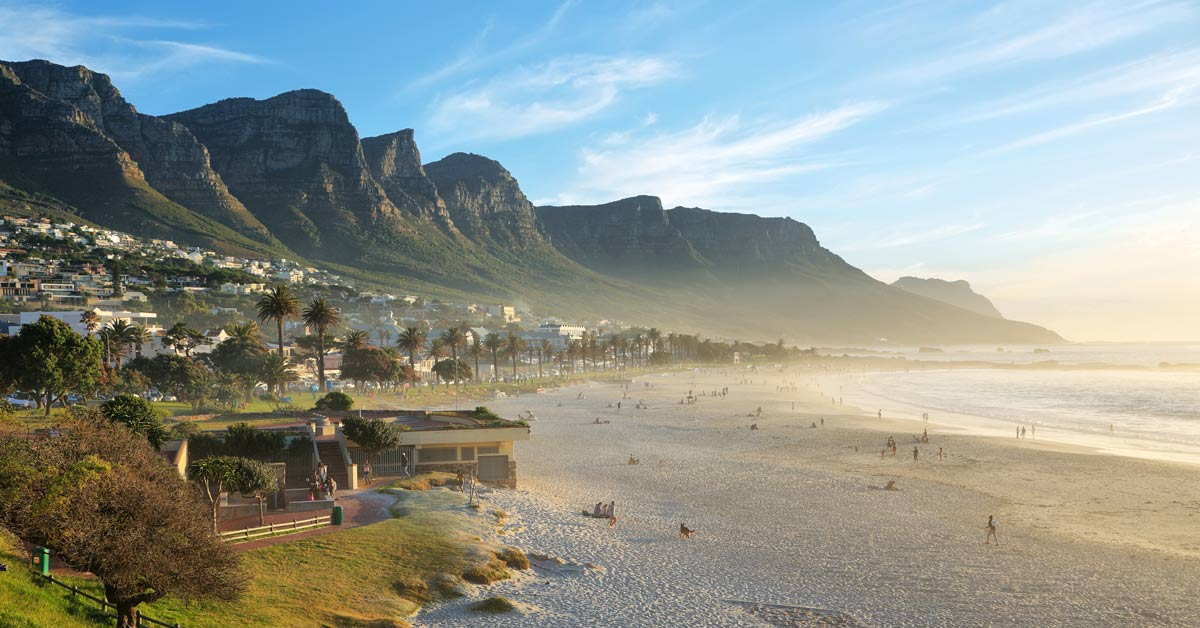 Camps Bay Beach in Cape Town South Africa