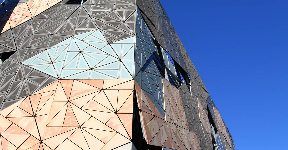 The architectural facade of the Australian Centre for the Moving Image