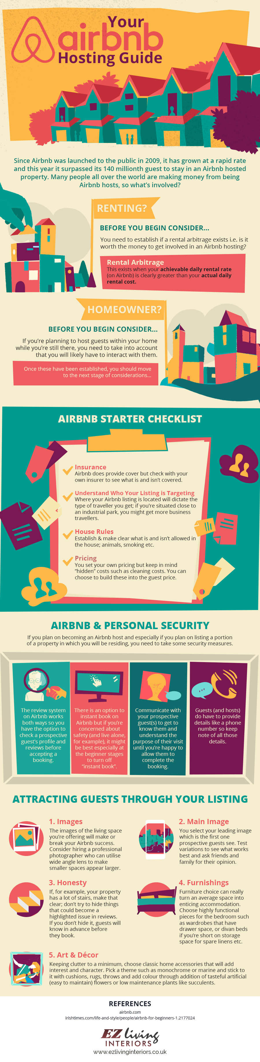 An infographic guide to hosting with Airbnb