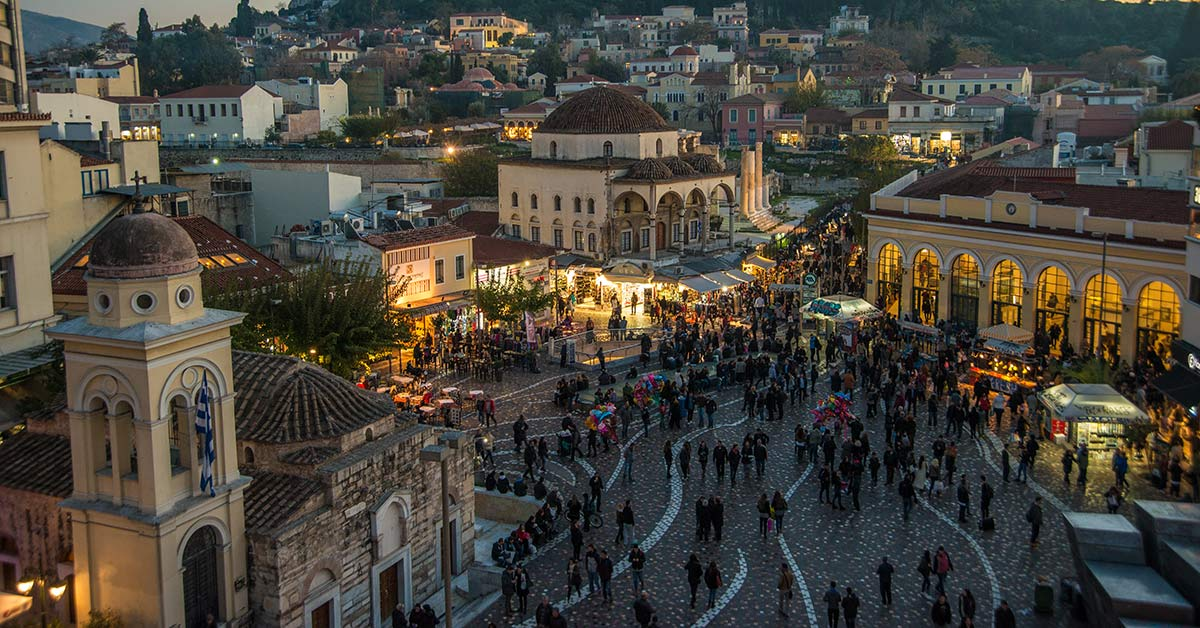 A festival in Athens Greece