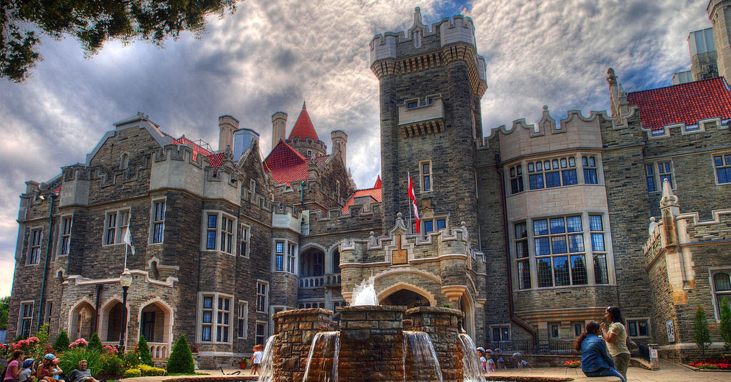 Front of the Casaloma Castle in Toronto Canada