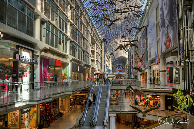 Inside the PATH Mall in Toronto, Canada