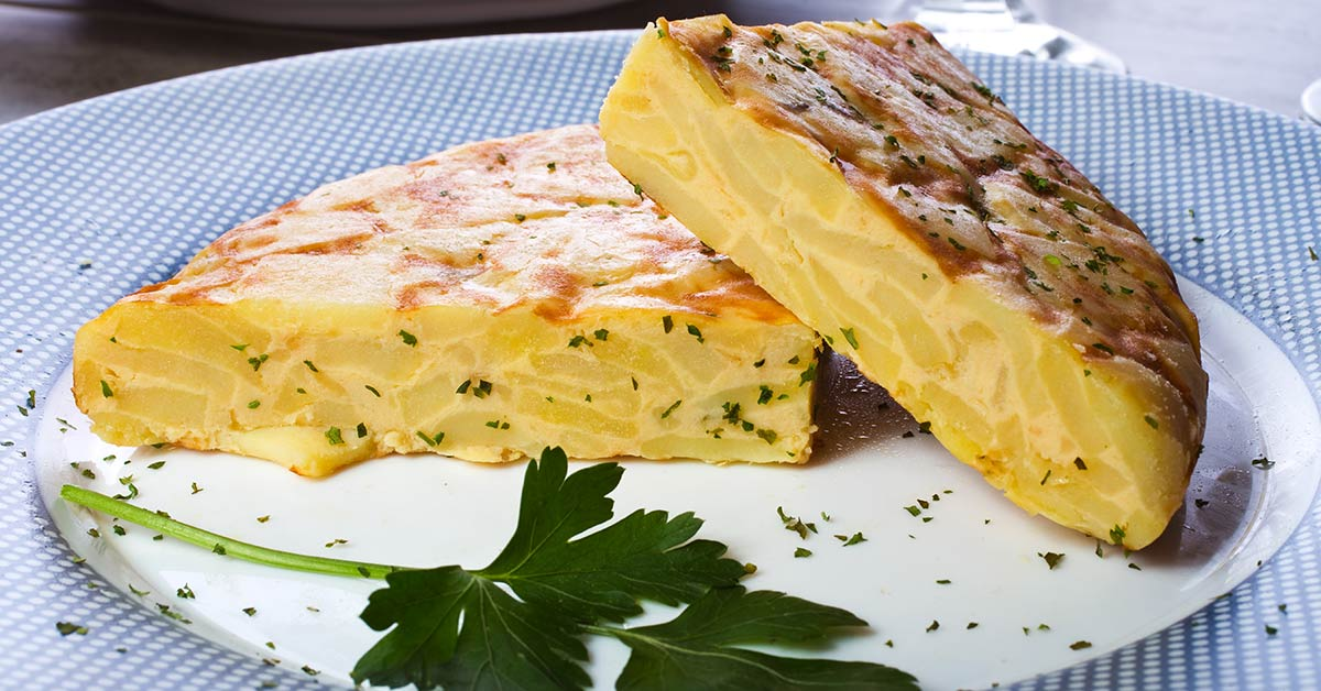 A plate of tortilla Espanola in Ibiza