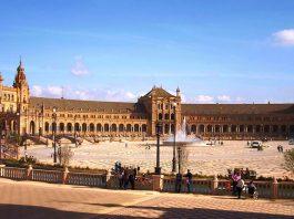 A view of the Paisaje de España in Seville Spain