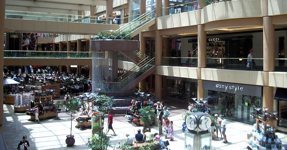 View inside the Scottsdale Fashion Square in Arizona