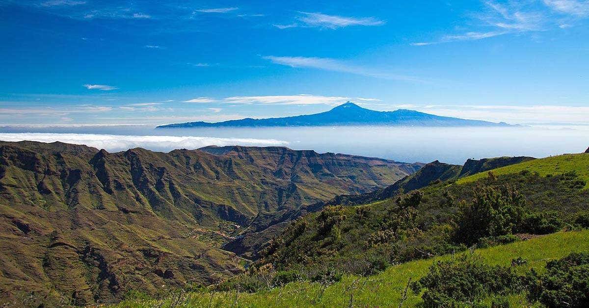 A view while hiking on the island of Gomera in the Canary Islands