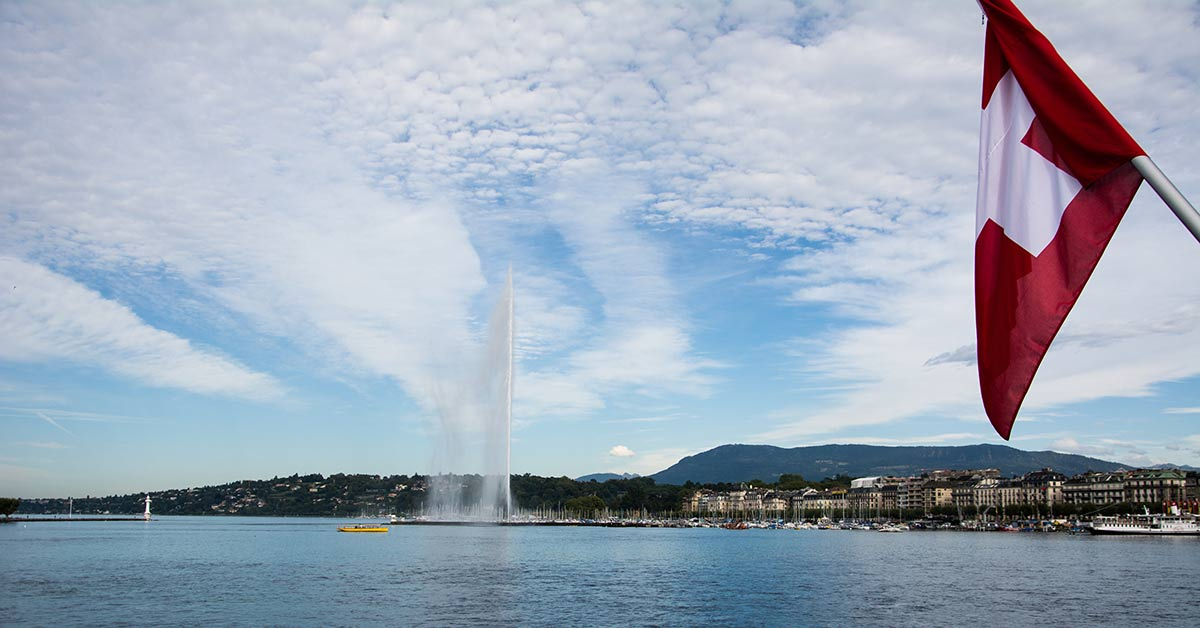 The beautiful city of Geneva Switzerland
