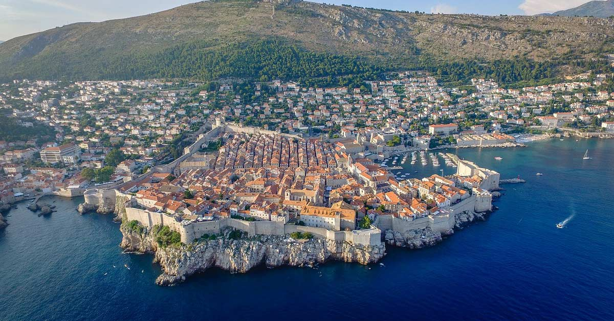 Arial view of the beautiful City of Dubrovnik in Croatia