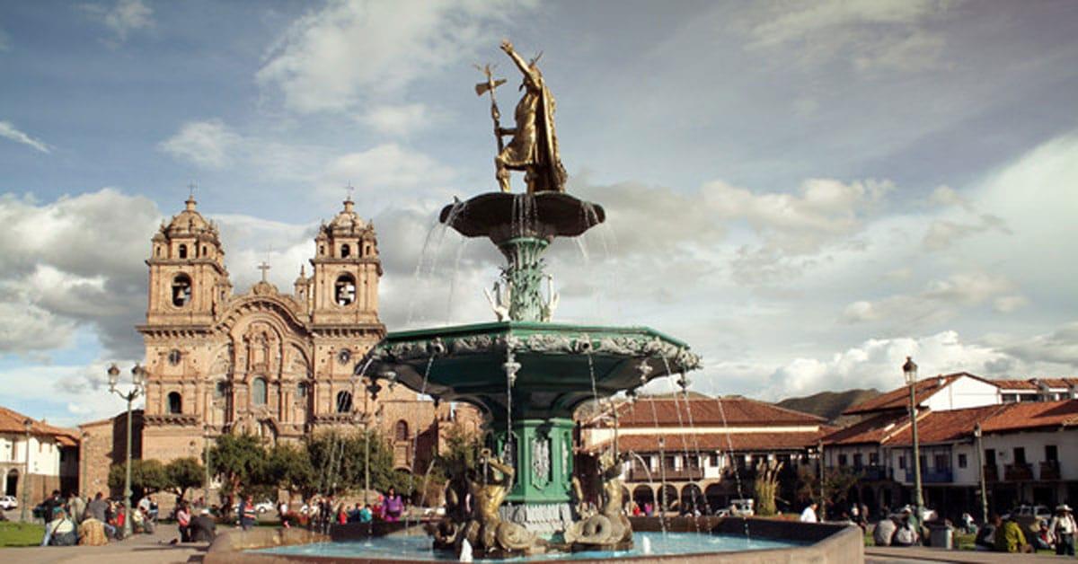 Fountain in Lima Peru