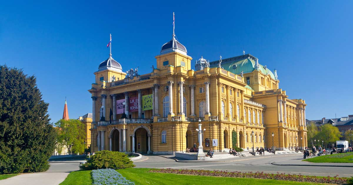 An outside view of the Croatia National Theater