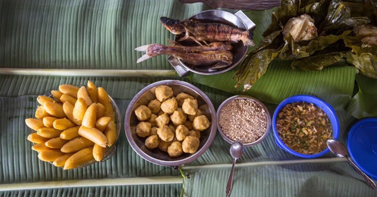 A variety of Peruvian delicacies