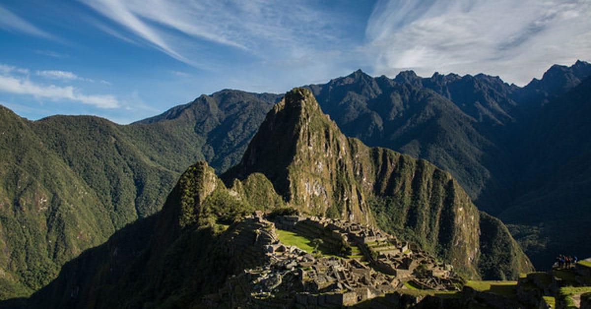 a view of Machu Picchu along the Inca Trail