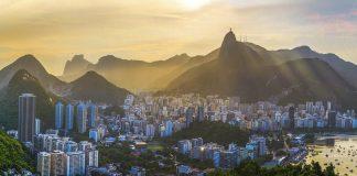 A view of the city of Rio de Janeiro, Brazil at sunrise. aTRAVELthing.com