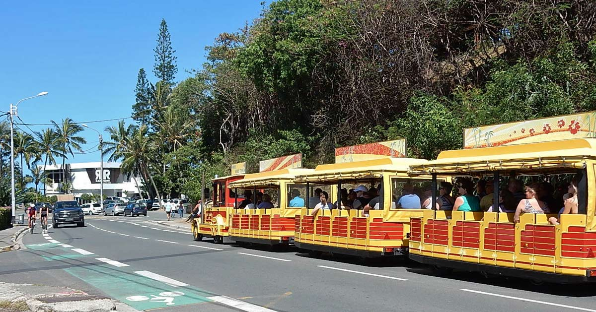 A trolley on a street in Noumea, New Caledonia