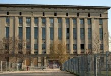 Outside view of the famous Berghain techno club in Berlin Germany. www.aTRAVELthing.com