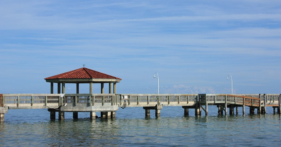 An ocean pier in Key West Florida. aTRAVELthing.com