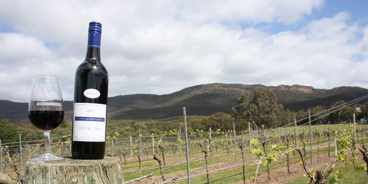 An Australian Wine from Victoria in a vineyard