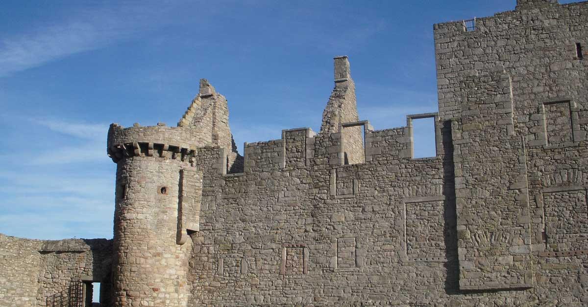 Craigmillar Castle in Scotland. aTRAVELthing.com