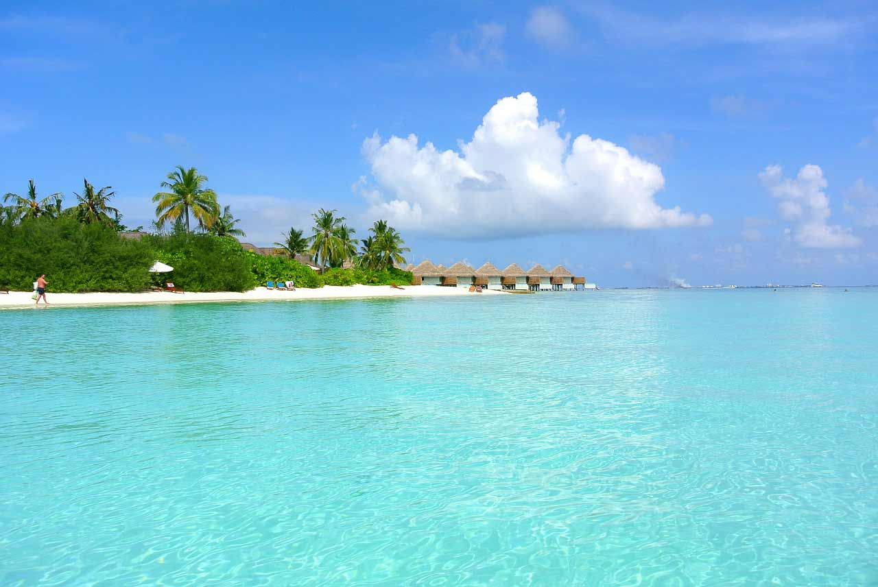 Beautiful resort style vacation huts in the Maldives