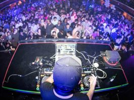 DJ playing at a nightclub in Bucharest Romania