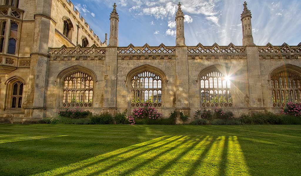 Sunlight Shining Through Archways- Cambridge University