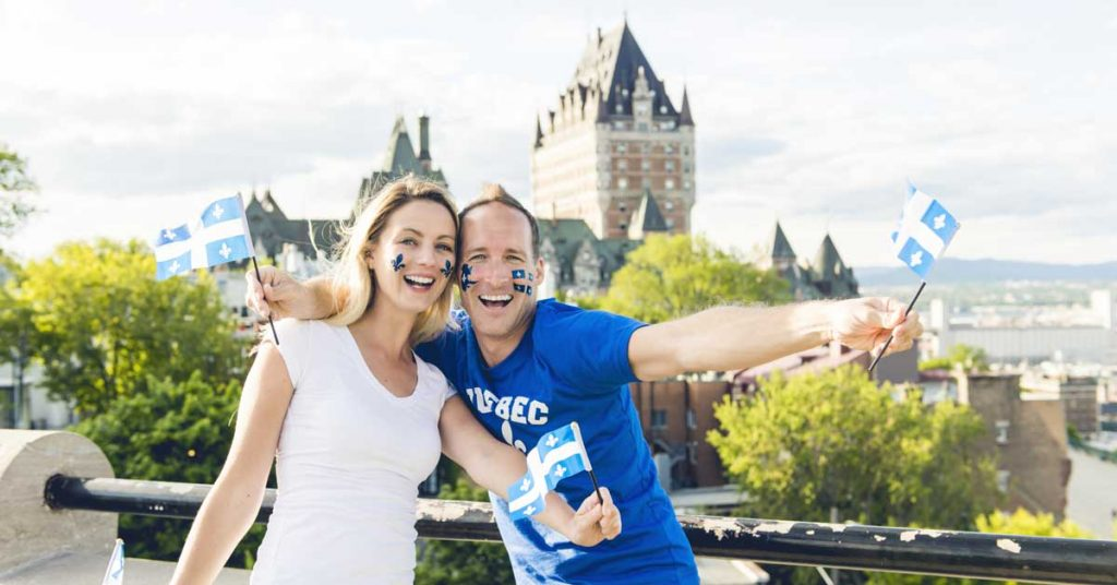 Image of friendly couple in Quebec Canada