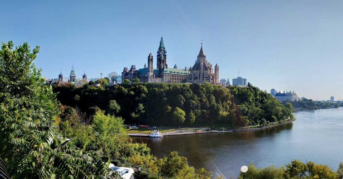 View of Parliament Hill in Ottawa, Canada
