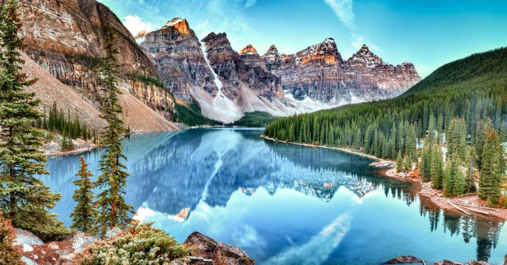 View of Banff National Park in Canada