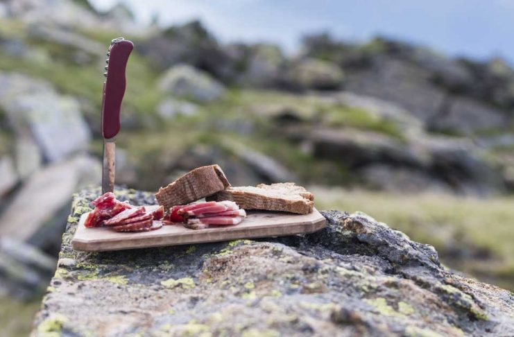 Image of salted pork sitting on a cutting board in Maggie Valley NC