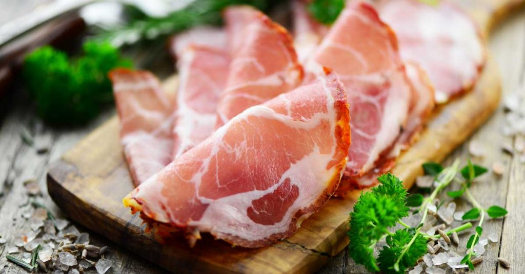 Image of thinly-sliced salted ham that can be found in Maggie Valley NC.