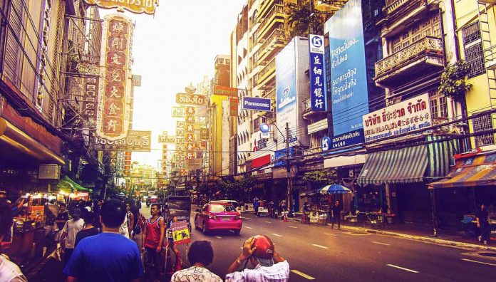 Street view in Bangkok Thailand